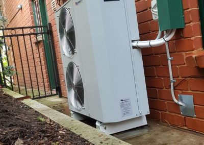 16Kw Temperzone outdoor unit with custom ordered metal pipe capping Residential Stoneyfell