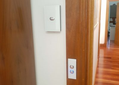 Art deco, Wi-Fi enabled,wall sensors installed for zone controlling in an Unley client's home