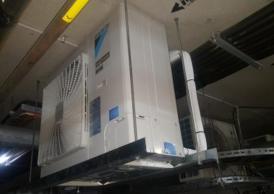 Artic Air specialise in AC installations in residential apartments, like this 5Kw outdoor Daikin unit installed in Domain Apartments in Adelaide