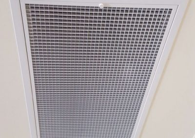 Ceiling metal Hinged powder coated return air grilles with washable filter Residential Daikin North Adelaide (1)