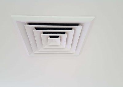 Classic style ceiling vents done for a Kensigton Park client's Daikin AC unit