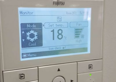 Commercial Fujitsu Air Conditioning Fit-outs and wall controller installed by our skilled team in Glen Osmond
