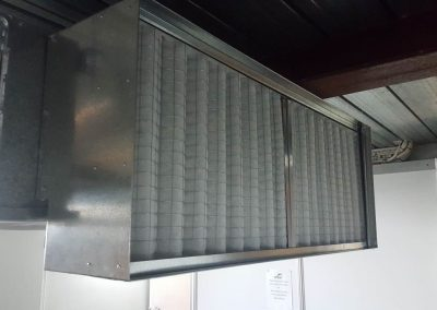 Custom-made, return air intake, commercial project in Adelaide