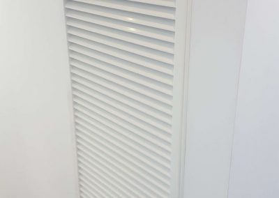 Customised, low level return air grilles installed as part of a commercial project in Parkside