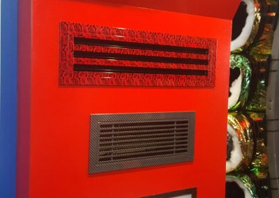 Customised supply air vents installed for a commercial client in Adelaide
