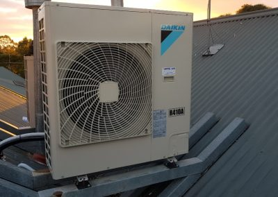 Daikin 10Kw indoor unit changeover installation done in-house for a client's two-storey home in Norwood_nn