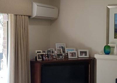 Daikin 7KW hi-wall AC installation for a residential indoor unit in Flagstaff Hill