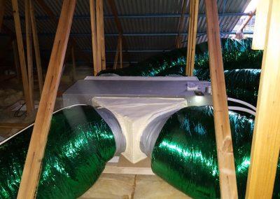 Energy saving installation with R1.5 ducting Hitachi 16Kw residential Glenelg