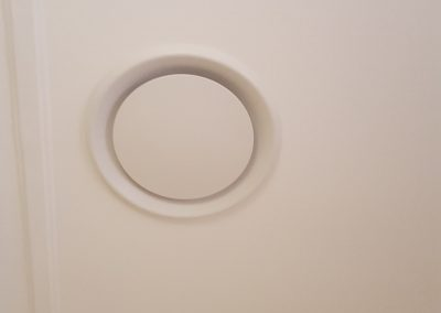 Hitachi 8Kw residential ducted circular ceiling vents installed in Myrtle Bank