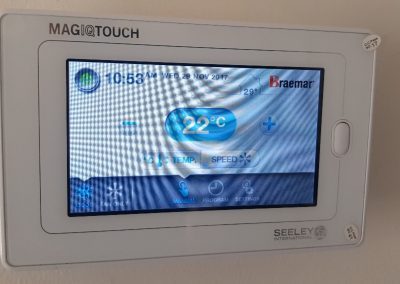 Magic touch wall controller installed for a commercial client's AC unit in Woodcroft