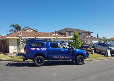 Residential installation ducted AC Temperzone Marino