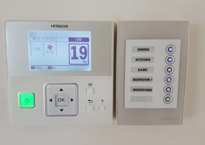 Soft-touch zone controller installed for an Adelaide client's Hitachi AC unit