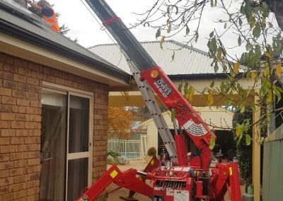 Specialising in Tight crane access Lifts residential ducted AC changeover Kensington Gardens