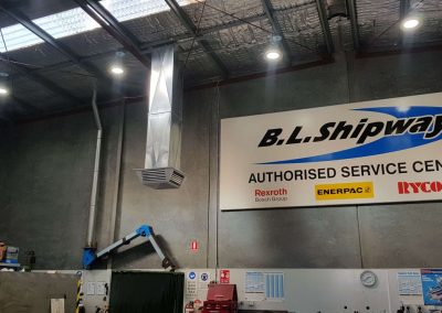 Specialising in commercial Evaporative Changeover installations Coolair Richmond dropper duct