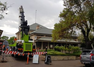 Specialising in difficult Crane access location commercial office Fit-outs Norwood