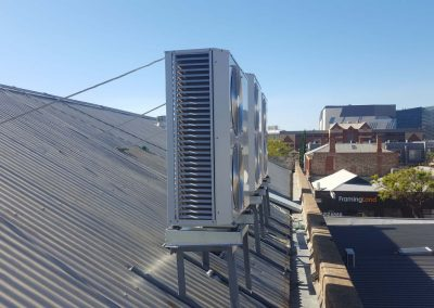 Temperzone 16KW digital scroll 3 phase outdoor units commercial project Eastwood