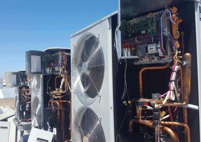 Temperzone 19KW digital scroll 3 phase outdoor units commercial project Adelaide