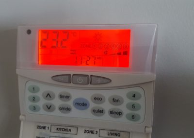 Temperzone sat-3 Smart Zone wall controller installed in Norwood for a residential property