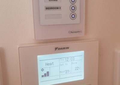 We do not sub-contract.Like this in-house installation of a Daikin 14KW AC unit changeover with soft-touch zone controller for a home in Norwood
