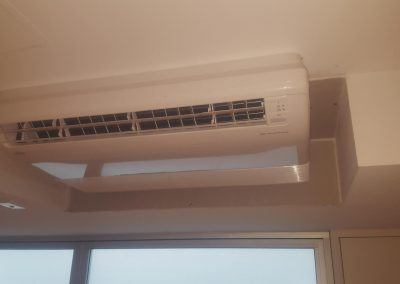 We installed this under ceiling 7.1Kw Fujitsu AC unit changeover for a client's home in Palais Apartments in Adelaide_n