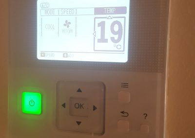 We installed this wall controller for a Kensington Gardens client's Hitachi 8KW ducted AC